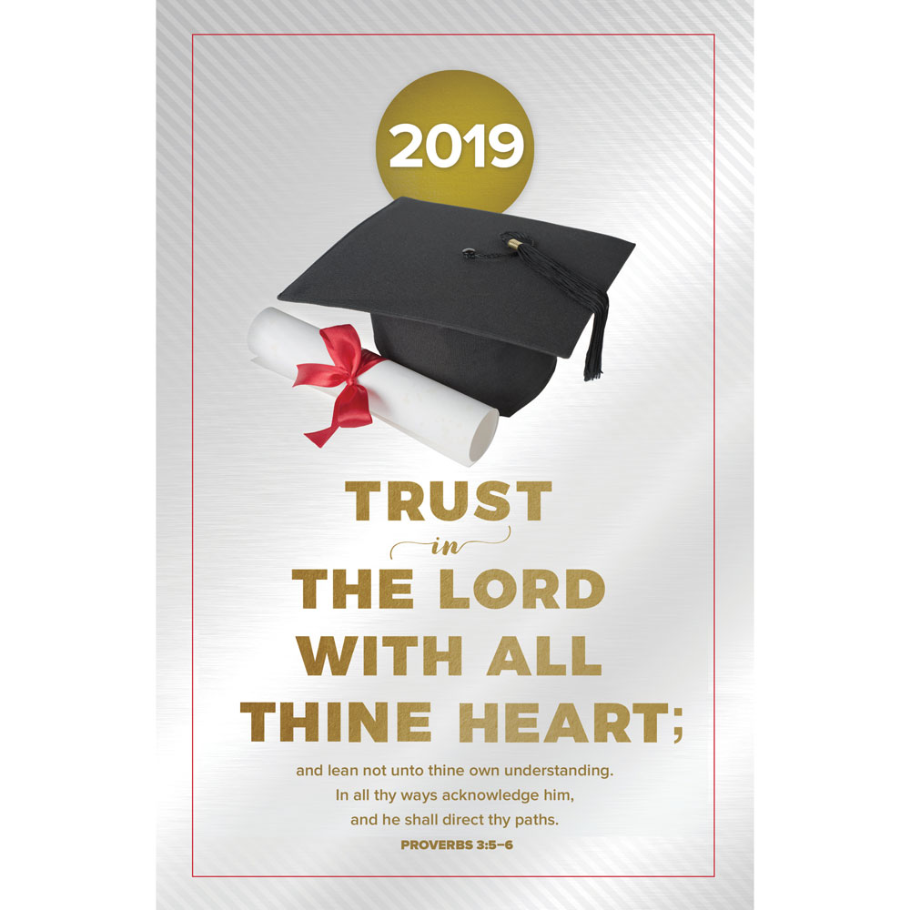Church Bulletin 11  Graduation  2019 Trust in the Lord Pack of 100