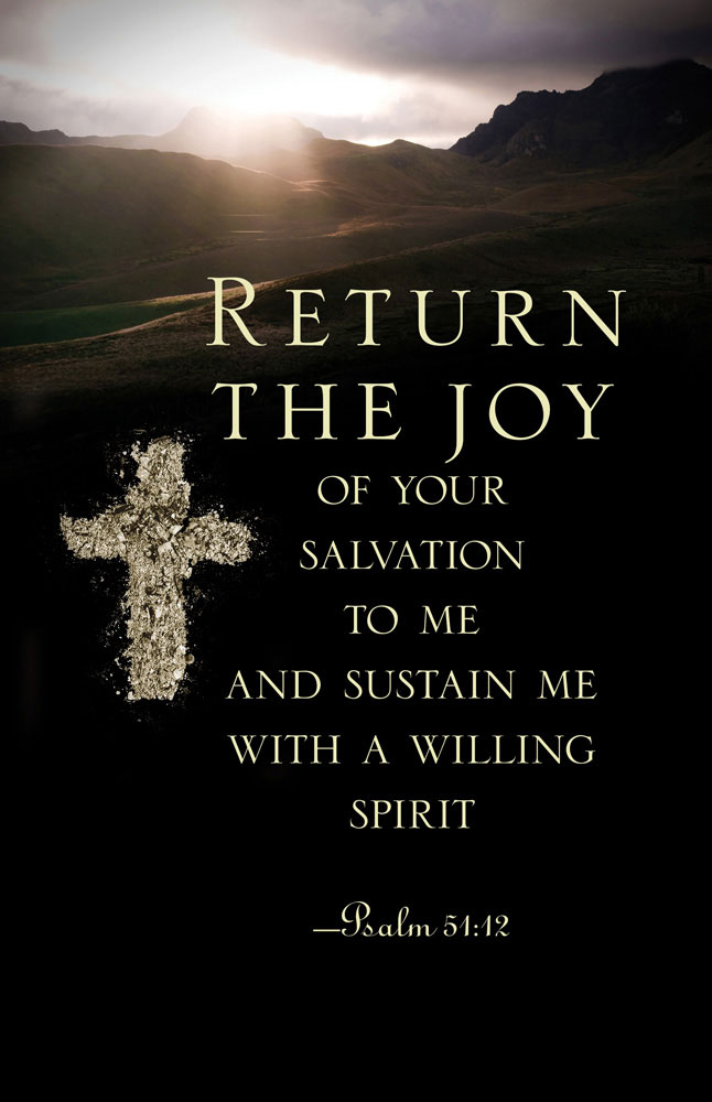 Church Bulletin 11  Ash Wednesday  Return the Joy Pack