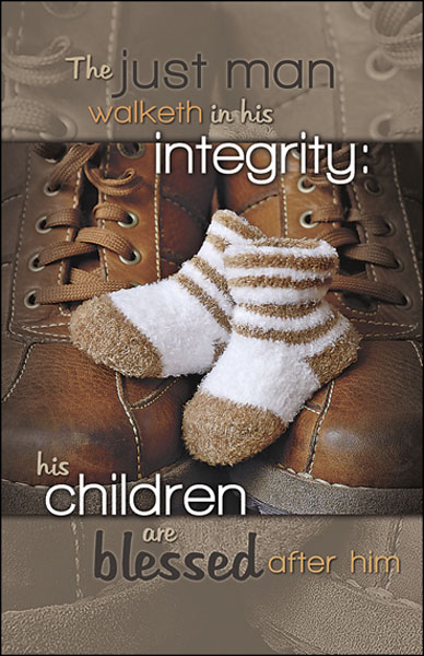Church Bulletin 11  Fathers Day  His Integrity Pack of 50