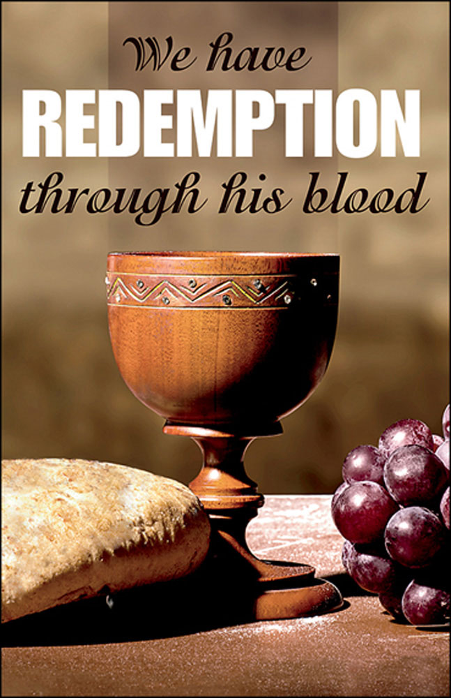 Church Bulletin 11  Communion  Redemption Pack of 50