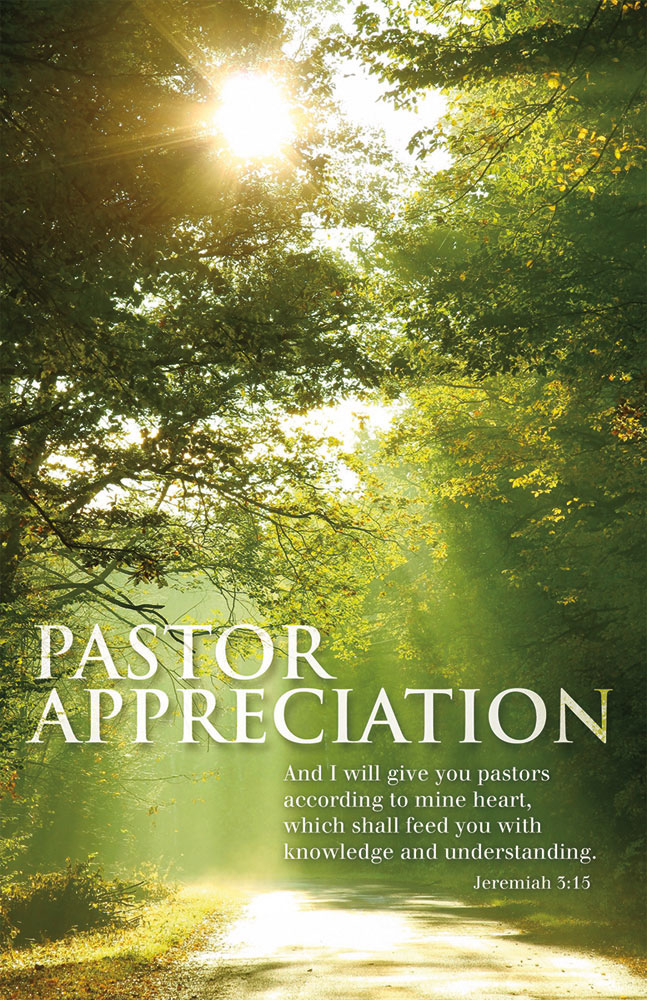 Church Bulletin 11  Pastor Appreciation  Jeremiah 315 Pack of 100