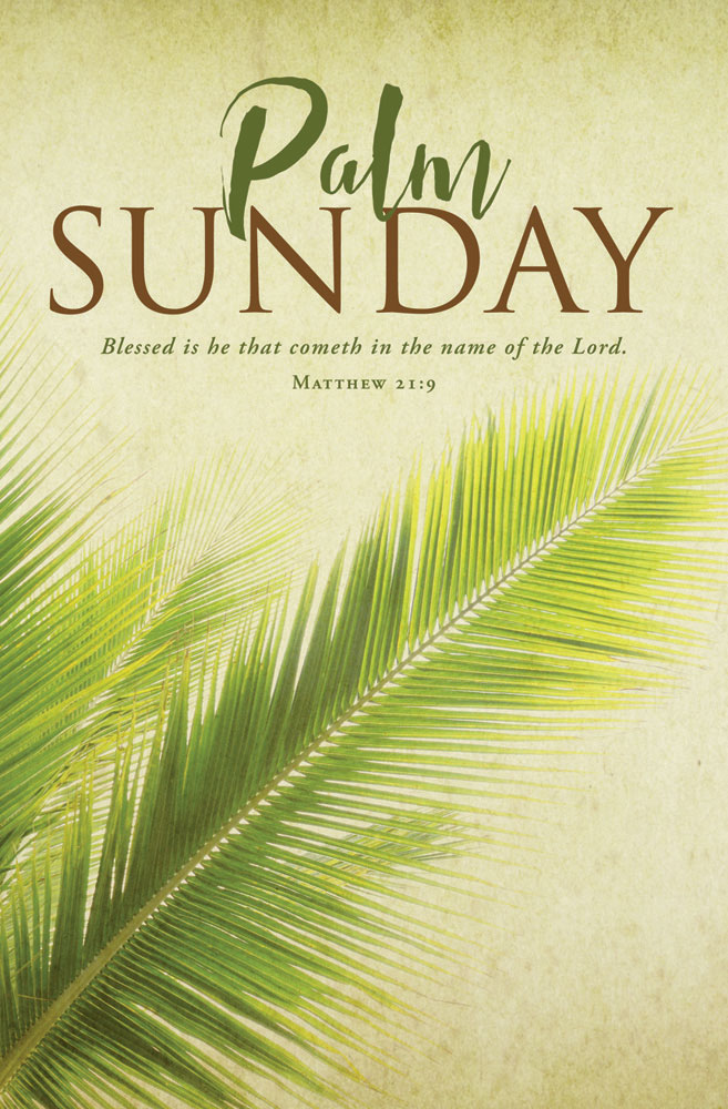 Church Bulletin 11  Palm Sunday Pack of 100