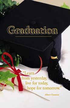 Church Bulletin 11  Graduation  Learn Pack of 100
