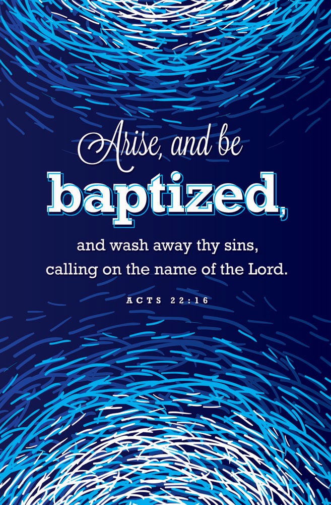 Church Bulletin 11  Baptism  Arise Pack of 100