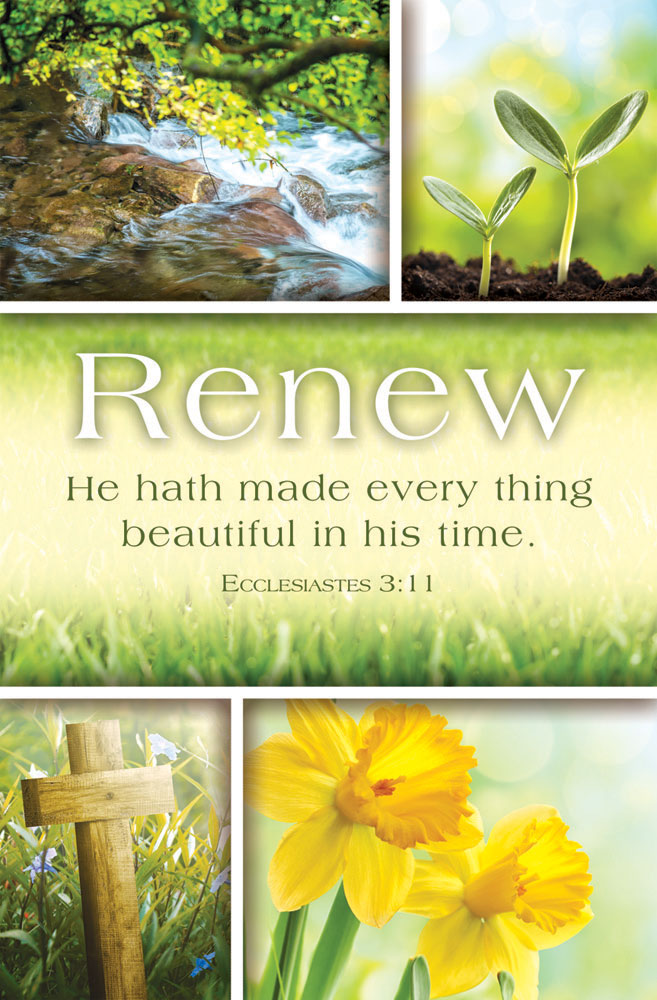 Church Bulletin 11  Inspirational  Praise  Renew Pack