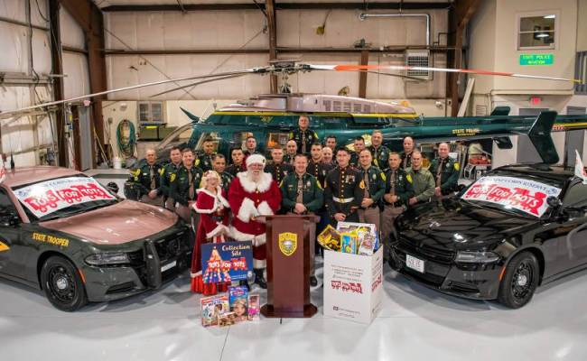 New Hampshire State Police Join Toys For Tots Campaign