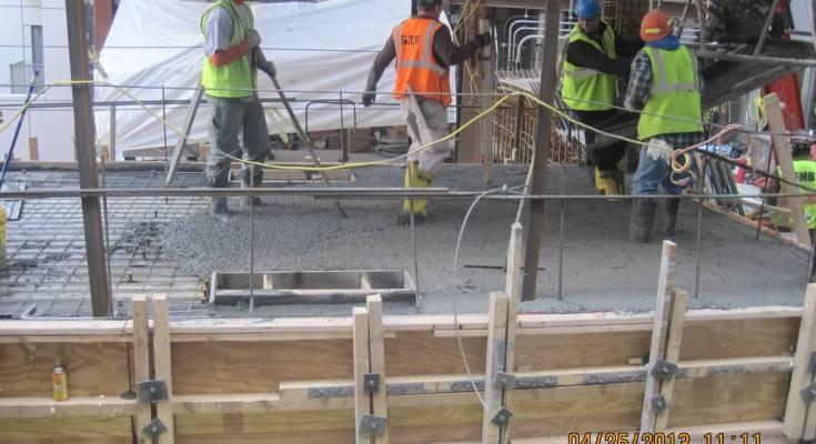 short pour concrete