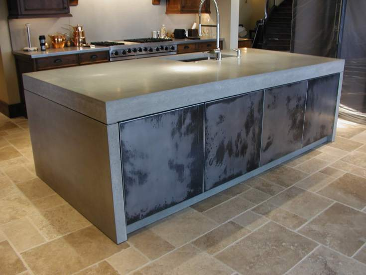 diy concrete countertops cost