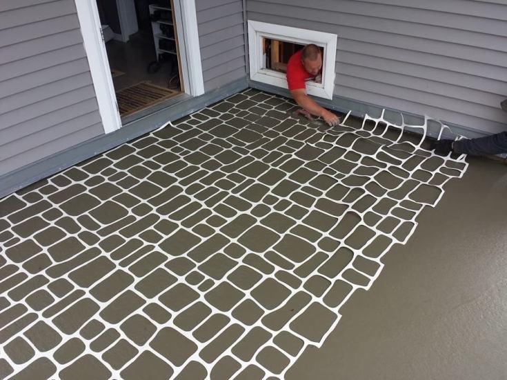 stencil concrete patterns
