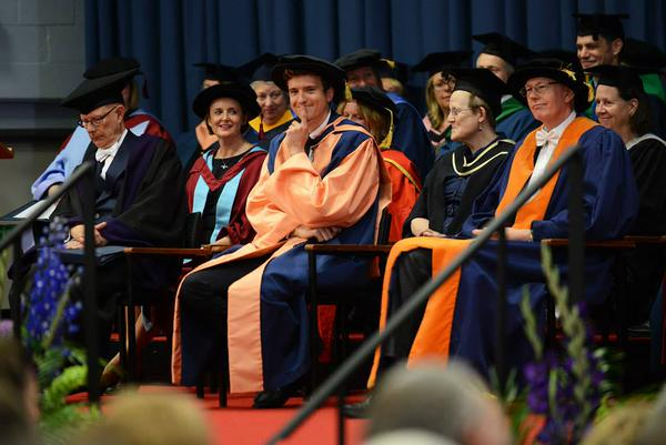 Greg James at congregation 2015. Photo: @uniofeastanglia on Twitter