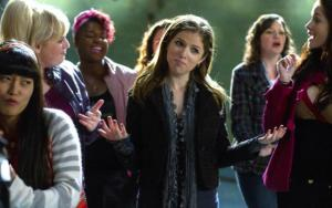 The Bellas, headed by Beca (Anna Kendrick), showcase their singing abilities in Pitch Perfect. Photo credit: Universal Pictures.
