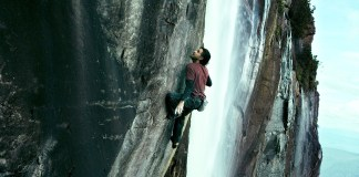 Édgar Ramírez ascends a waterfall in this not so thrilling remake.