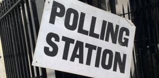 Polling Station sign Photo: Secret London