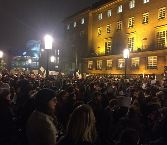 Trump protest: Caitlin Doherty
