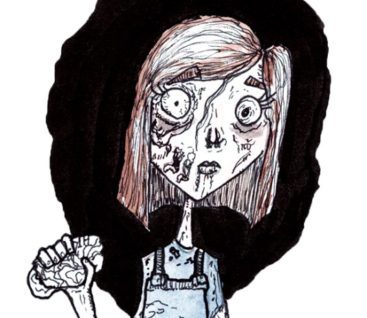 Zombie, illustrated by Dougie Dodds