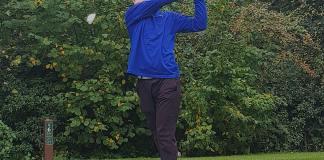 Luke Bennett takes a swing for UEA. Photo: Will Potts
