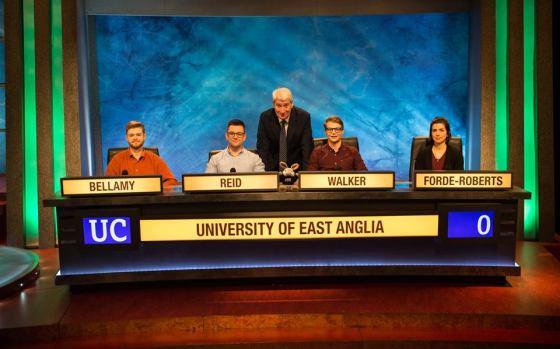 UEA alumni to appear on University Challenge this Christmas