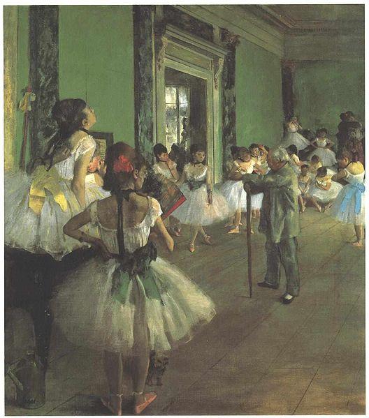Art Titles: The Dance Class by Edgar Degas