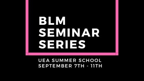 Black Lives Matter Seminar Series: a UEA student-led decolonisation initiative