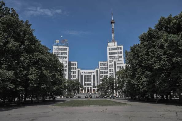 Soviet Hotel - The impressive Derzhprom, a five minute walk from Hotel Kharkov