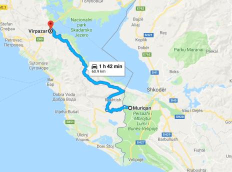 albania road trip bad road