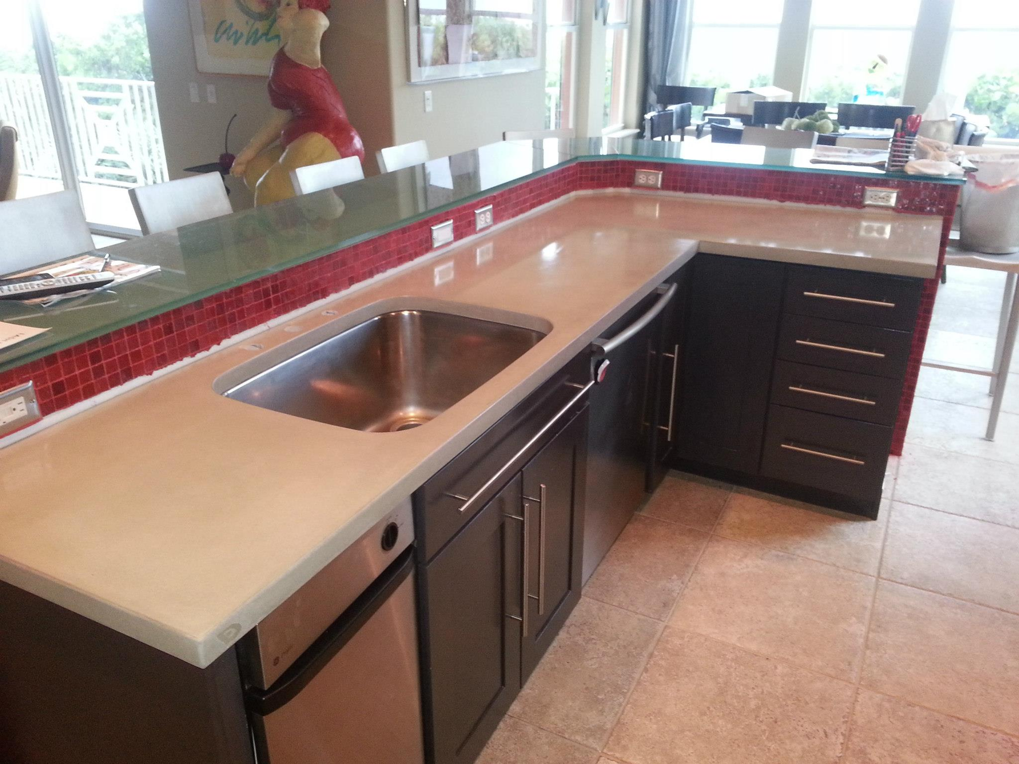 cement kitchen sink country decorations how to effectively sell concrete countertops homeowners navigating the initial inquiry