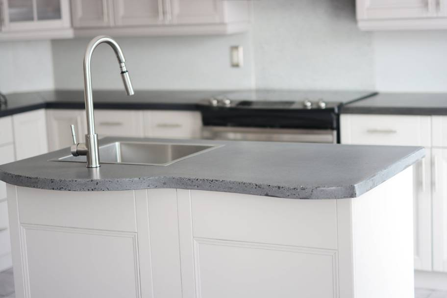 cement kitchen sink storage canisters how to effectively sell concrete countertops homeowners