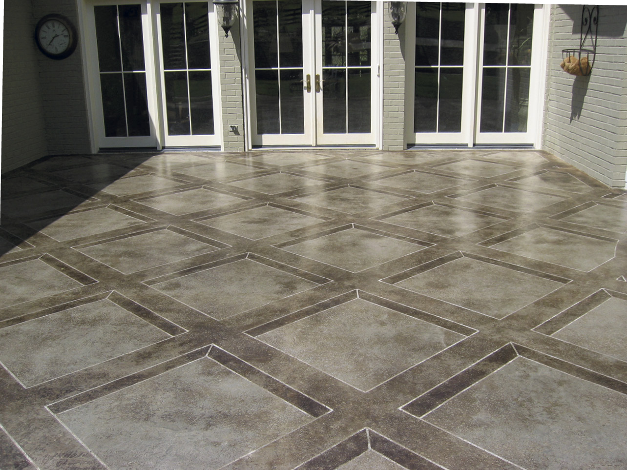 How To Add Dimension to a Stained Concrete Tile Pattern