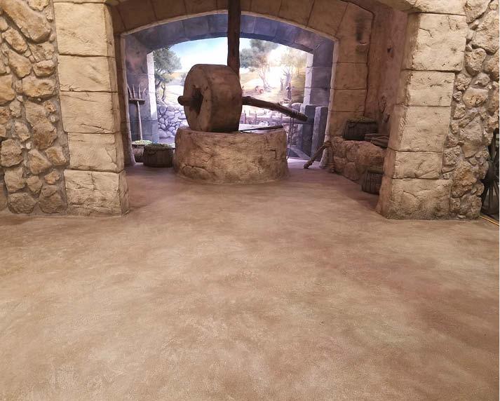 Bible Museums Dirt Floors Made with Concrete  Concrete Decor