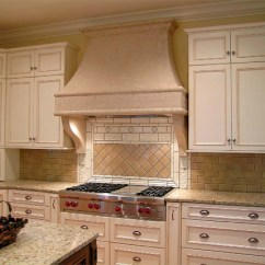 Kitchen Range Hoods Towels Bulk Concrete Hood Takes On Style Decor That Blends Naturally Into The Of Light Colored Granite