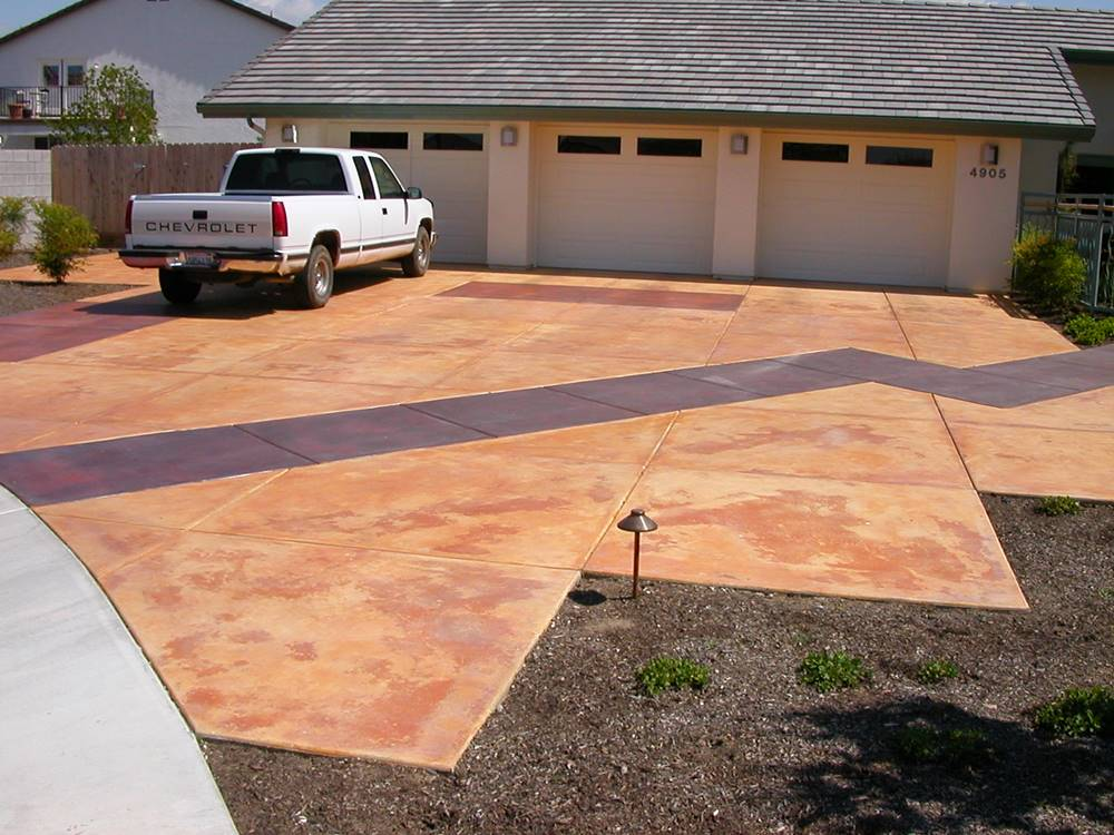 outdoor concrete stains pros and cons