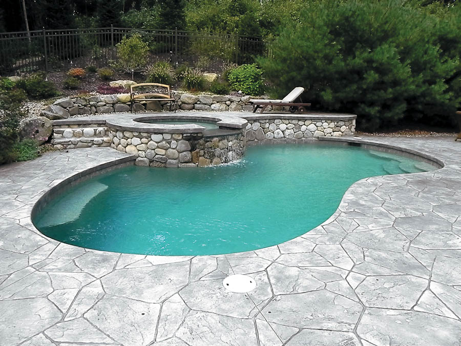 stamped concrete patio in los angeles