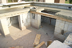how to make an outdoor kitchen dinette set creating concrete kitchens in cold climates decor blocks a good structural foundation for their surfaces bond well with
