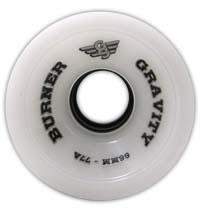 Gravity - Burner White - Skateboard Wheels 66mm / 77a