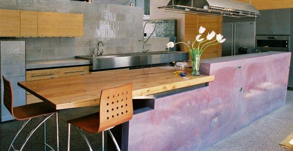 concrete kitchen island Pictures of Concrete Kitchen Islands