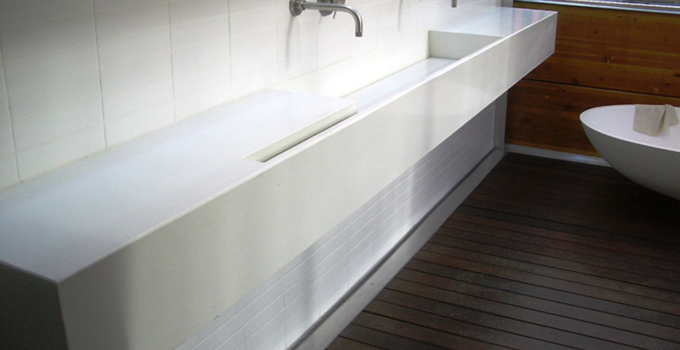 kitchen sinks with drainboards natural wood cabinets bath concrete gallery | exchange