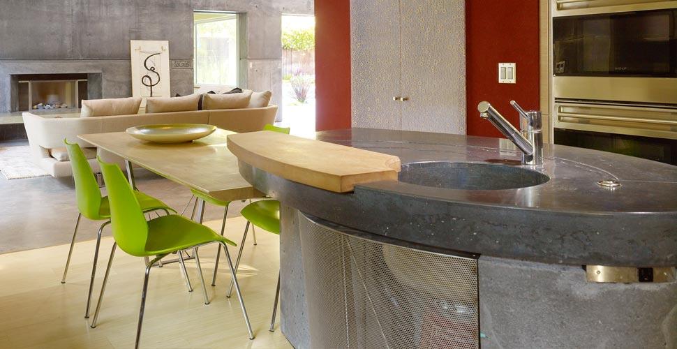 House 6 Concrete Kitchen Countertops by FuTung Cheng  Concrete Exchange