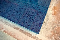 Blue Recycled Glass Countertop | Concrete Exchange