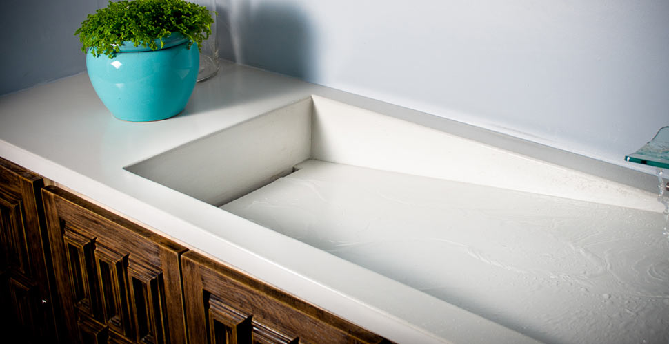Award Winning Concrete Integral Sink Projects  Concrete