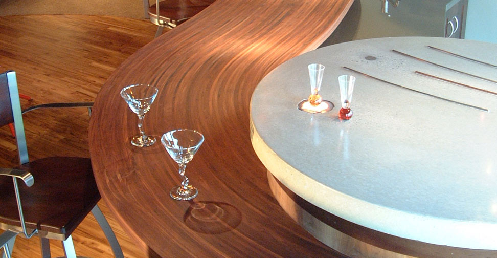 Concrete and Wood Bar Countertop by Eric Boyd