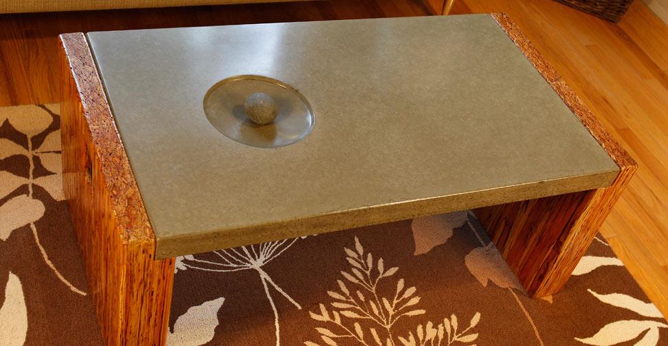 Concrete Coffee Table by Sticks  Stones  Concrete Exchange