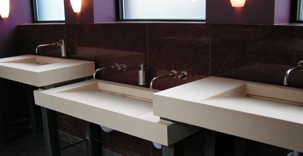 small kitchen sinks white multi-level concrete by chris becker | exchange