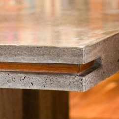 Concrete Kitchen Table Best Undermount Sink Wood And Dining Cheng Exchange With Large Inlay By Keelin Kennedy