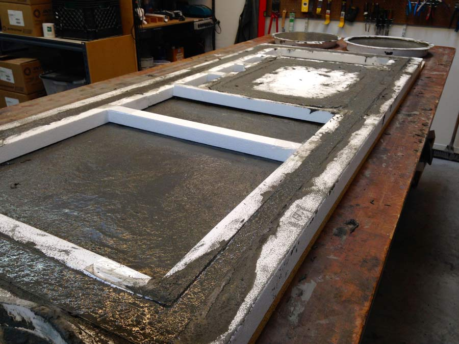FiberReinforced Concrete Countertop Casting Demonstration