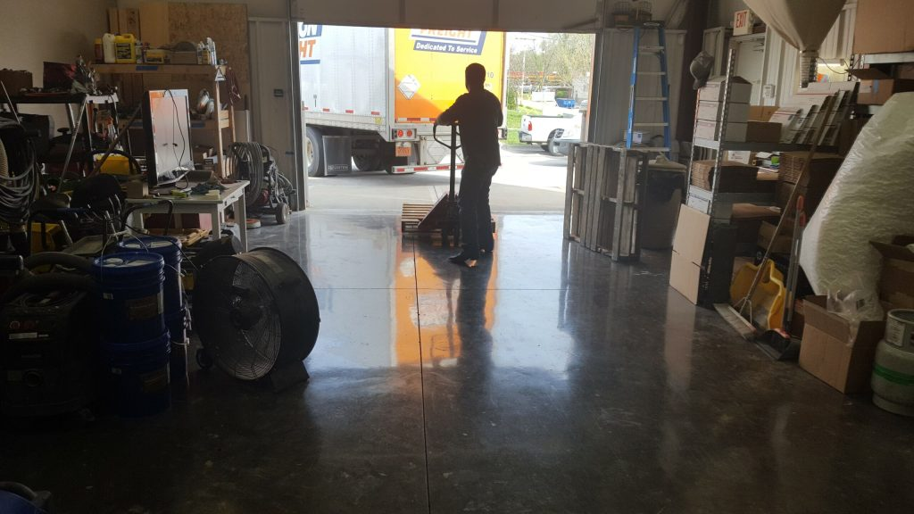 diy polished concrete floor