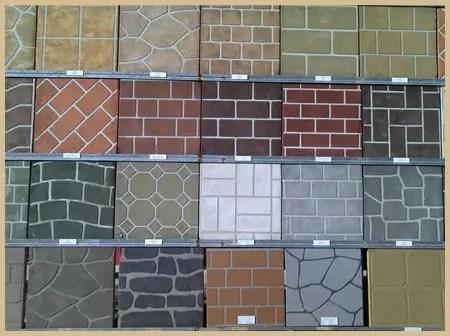Stenciling a fresh concrete slab  ConcreteIDEAS