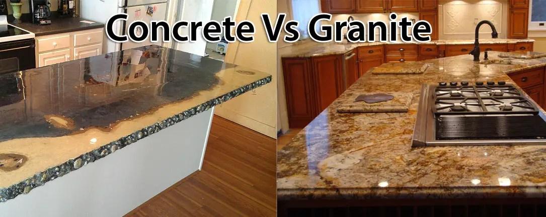 Comparing Concrete To Granite Countertops ConcreteIDEAS
