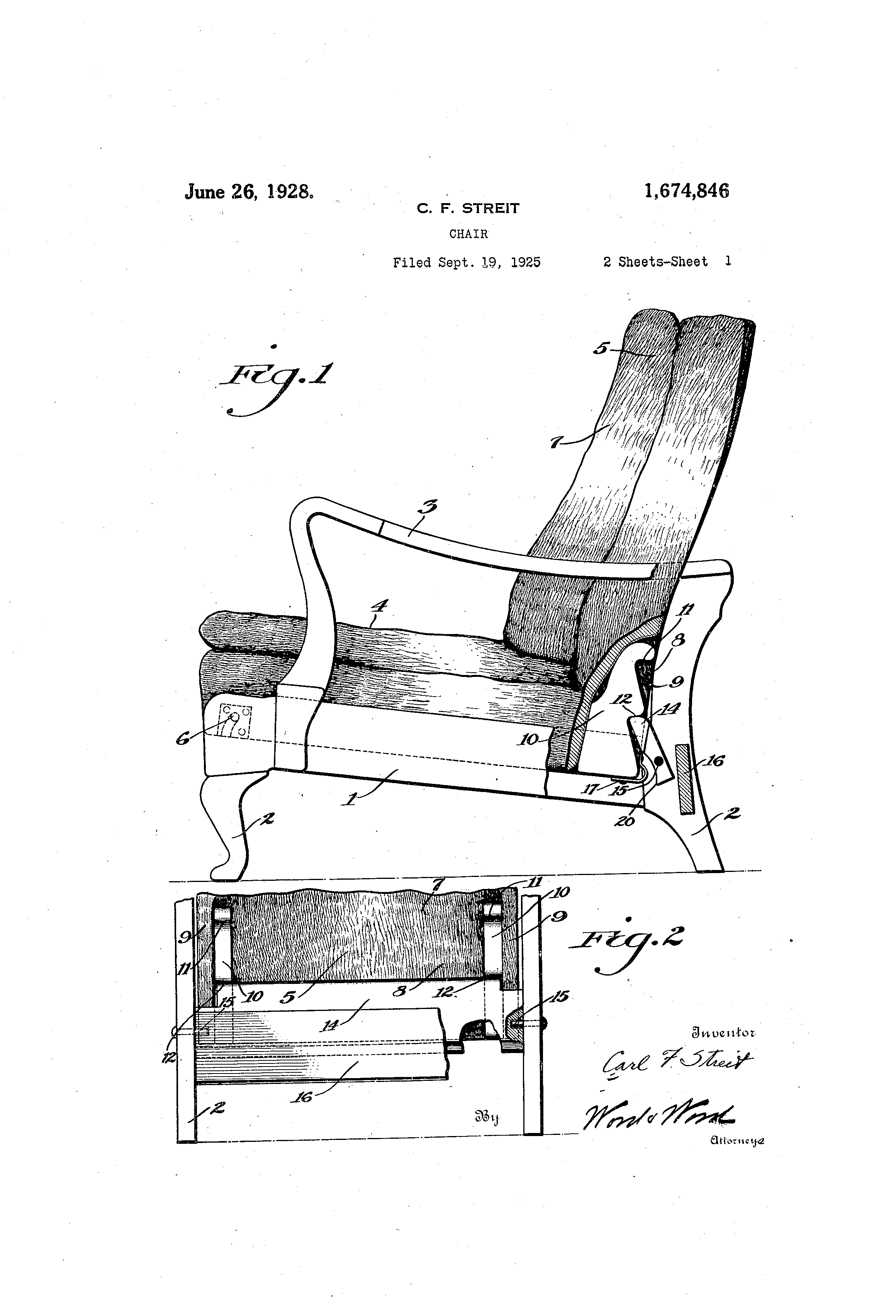chair design patent green leather office the streit slumber at concrete lunch http en wikipedia org wiki c f