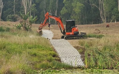 ACM Project – Dam Spillway and Overflow Channel – Meerschaum Vale NSW