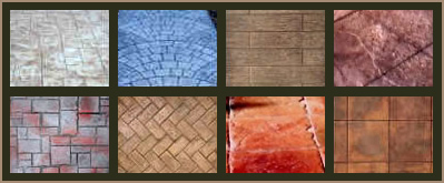 concrete patio color chart and pattern